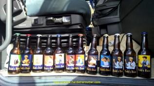 Lors d'un transfert de cuves de brasserie entre le 64 et le 30, le client, un anglais, m'a offert les différentes bières de sa production. Enjoy !!