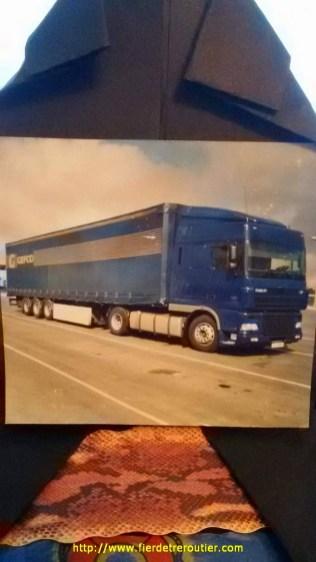 entre l'Angleterre et l'Irlande, avec un daf xf 430, mon premier camion neuf, avec lequel j'ai souvent fait la navette Mulhouse-Ryton.