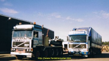 En Suède à coté d'un tracteur F12 à 5 essieux, exceptionnel !