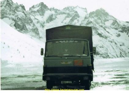 Mon 1er camion, un MB709 au Col du Lautaret
