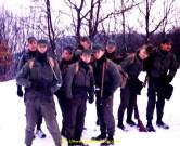 Avec les copains dans la neige