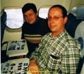 De retour du Cercle polaire en avion avec Jean-Pierre