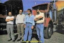 De gauche à droite : Bernard Wauthier, Dany Wauthier, Michel Gaillard et André Godeloup.