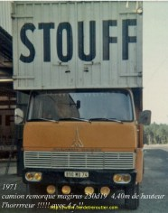 1971 camion remorque Magirus