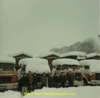 Décembre 1970, il tombe entre 70 cm et 1 mètre de neige dans la Drôme en quelques heures. L'activité de l'entreprise sera arrêtée pendant 1 semaine.