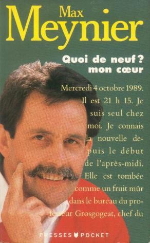 En 1989, alors qu'i apprend que sa dernière chance de survie est de pouvoir bénéficier d'une transplantation cardiaque, il meuble l'attente en attendand la greffe en tenant pendant trois mois, au jour le jour, un journal de bord relatant les péripéties qu'il vit. C'est Philippe LABRO, son directeur de l'époque à RTL, qui fera publier le livre aux éditions Robert LAFFONT.