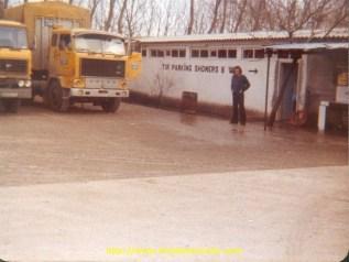 Le 89 et le DAF au parking TIR d'Istambul.