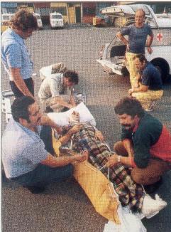 Rapatriement d'un routier blessé