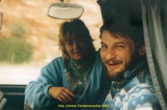 Christophe Müller et son épouse.