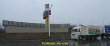 Le monument tout neuf (et le camion propre, c'était au retour – ça n'a pas duré..)