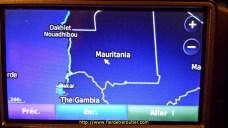 Evidemment y' avait pas de route mais on a mis quand meme le gps pour pas se louper au retour, et re la banane de se voir sur le gps à coté de Dakar
