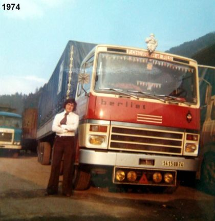 Berliet TR280 1974 On apprécie le confort de nouvelle cabine!