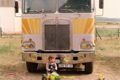 Transports Moriceau, le 1er Ken et mon fils