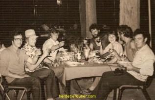 Damas 1976 mes 20 ans, à ma droite Jean-Claude et à ma gauche Serge Chemin