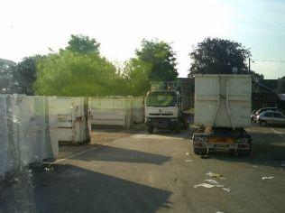 Arrivée au centre, pesage indispensable, ici notre depot à Audincourt