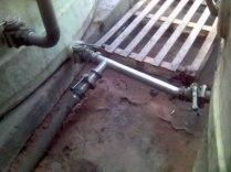 Les vannes, moment assez important, surtout bien regarder que la vanne est ouverte avant de mettre la pompe en route sinon risque de tout péter ! pompe, manche etc…