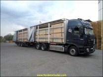 chargement de bois dans les Landes pour une usine prêt de Villefranche