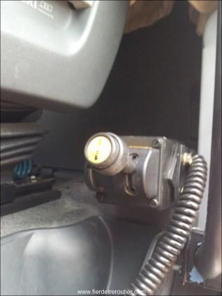 Manette pour actionner le tapis en système hydraulique
