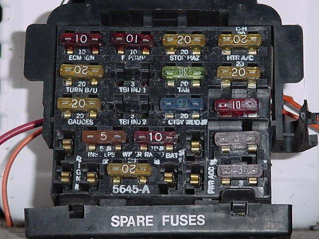 1997 Pontiac Gt Fuse Box Diagram