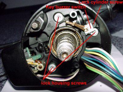 1986 chevy truck ignition switch wiring diagram rv transfer zerlegen der lenksäule