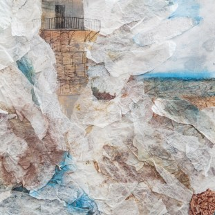 Lighthouse Paper Collage