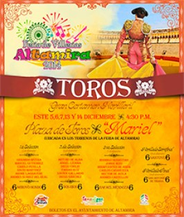 Cartel 2° Certamen Novilleril en Altamira 2014