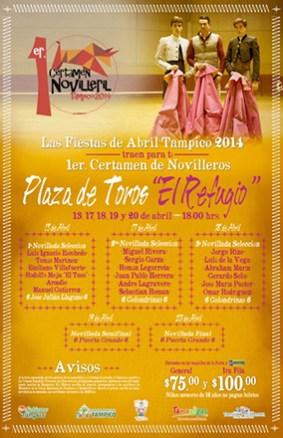 Cartel Oficial 1er. Certamen Novilleril Tampico 2014