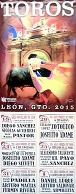 """Espectáculos Taurinos de México, S.A. de C.V. - Feria Taurina """"León 2015"""""""