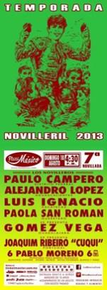 """Cartel 7a Novillada """"Plaza México"""""""