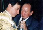 En el Patio de Cuadrillas, entrevistando al Maestro Jorge Gutiérrez