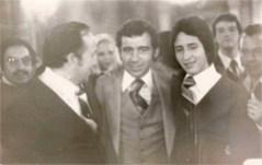 Con su Compadre, el Maestro Manolo Martínez, padrino de confirmación de Enrique Hernández Vázquez, al término de la ceremonia religiosa