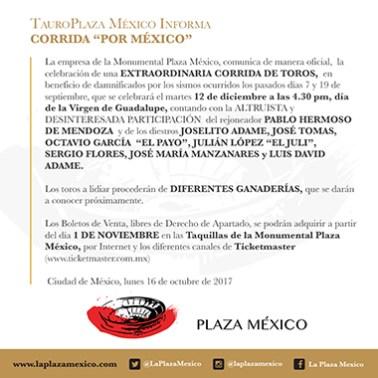 Corrida Extraordinaria - Plaza México