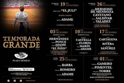 Temporada Grande 2017 – 2018 / Plaza México