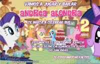 Invitaciones My Little Pony celebrando con Twilight Sparkle