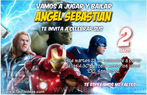 Invitaciones de los Vengadores (The Avengers)