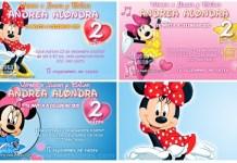 Invitación Baby Minnie Disney