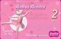 invitaciones Angelina Ballerina