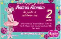 invitacion angelina ballerina 2