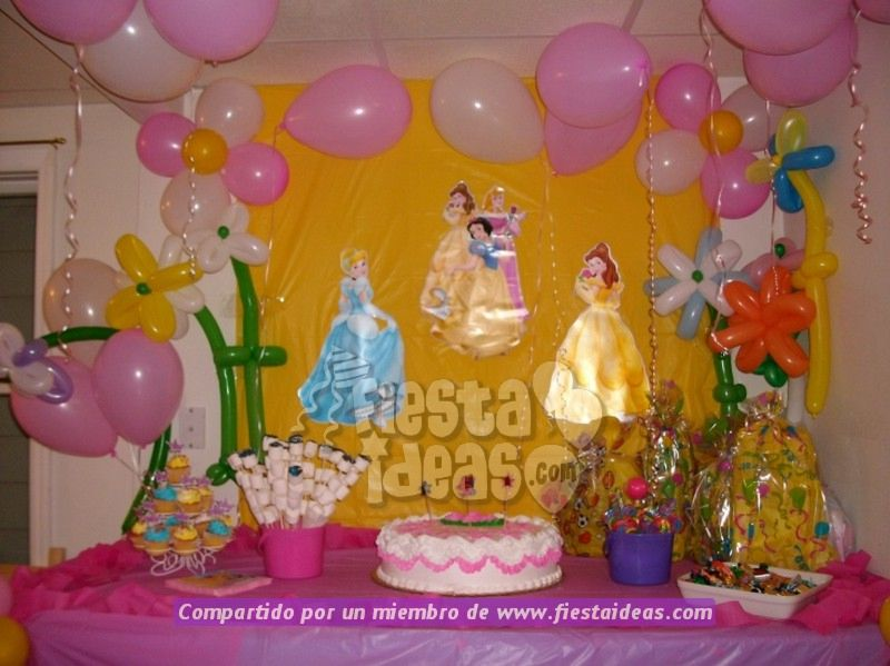 galeria de fotos decoracion de princesas disney