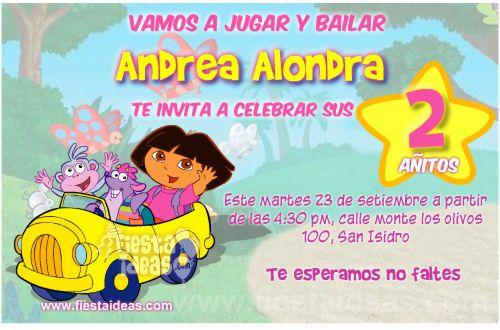 invitaciones de Dora la Exploradora