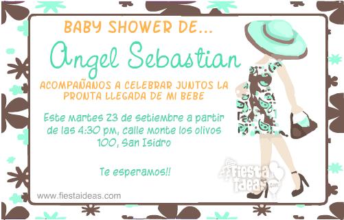 Invitacion baby shower en la dulce espera