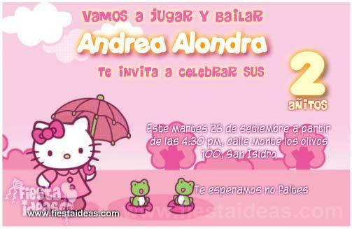 Invitaciones Hello Kitty 2