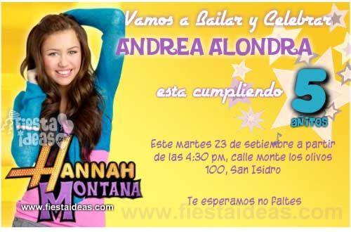 invitaciones de cumpleaños_Hannah_montana 2