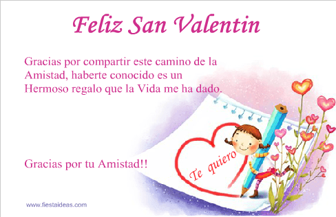 Tarjetas San Valentin 2 Gratis Fiestaideas.com