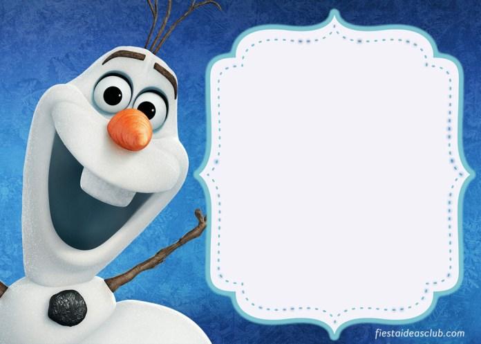 Invitación de Olaf de frozen