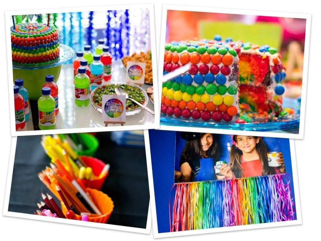 Fiesta arcoiris con ideas llenas de colores y diversion for Ideas decoracion fiesta