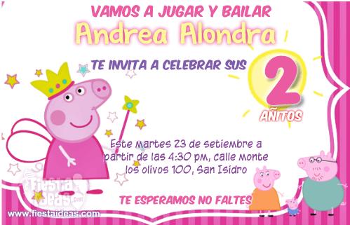 Invitaciones De Peppa Pig Para Imprimir Gratis Con Sus Amigos - Para-hacer-invitaciones-de-cumpleaos
