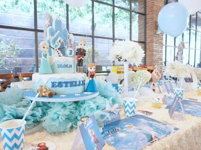 Original fiesta con frozen la princesa decoracion centro for Cuartos para ninas frozen