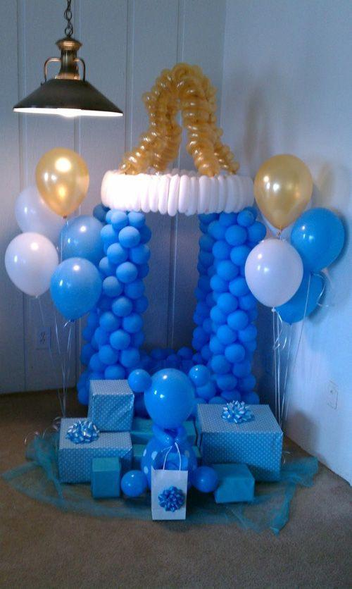 Ideas para decoracion de baby shower con globos te