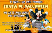 Mickey mouses invitacion de Halloween